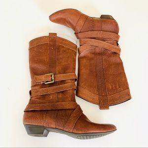 GIANNI BINI Leather Boots Size 5.5